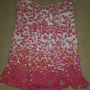 2 for $15 Old Navy strapless hawaiian summer top